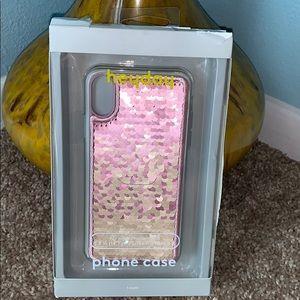 "Heyday Pink Sequin 2018 iPhone X 5.8"" Screen New"